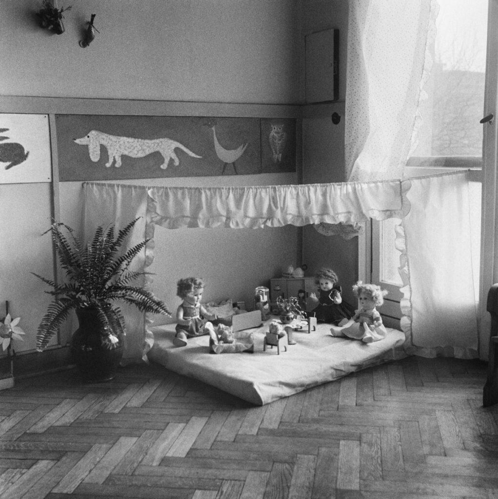 Play corner with dolls.
