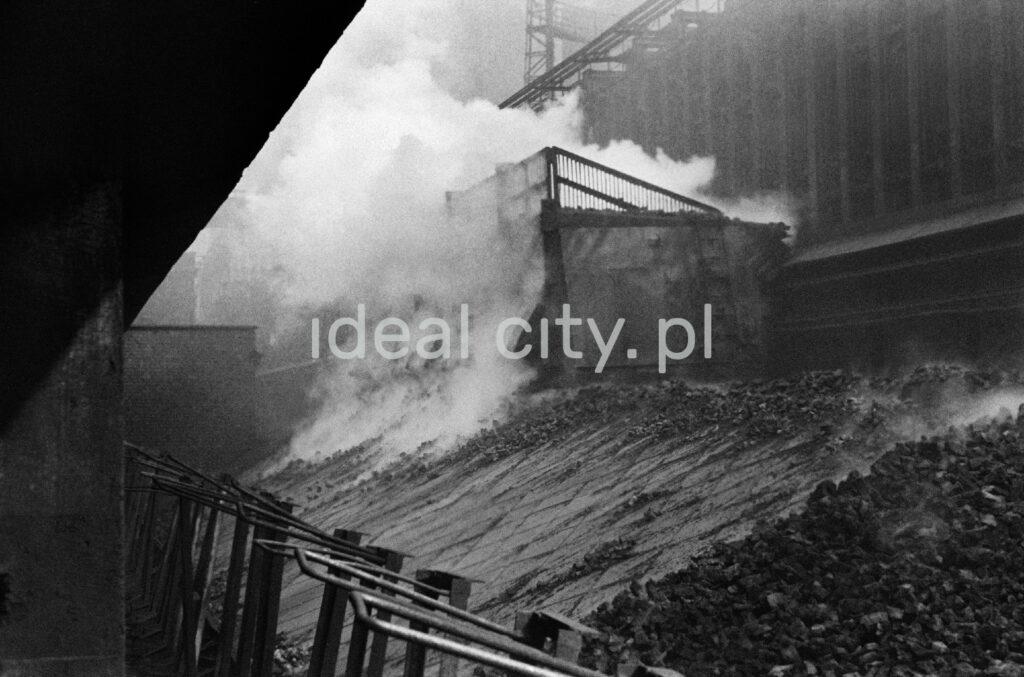 A view of a smoking heap of coke.