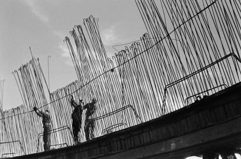 Fixers install vertical construction bars