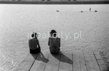 Nowa Huta Reservoir. Late 1950s.  Zalew nowohucki, koniec lat 50. XX w.  Photo by Wiktor Pental/idealcity.pl