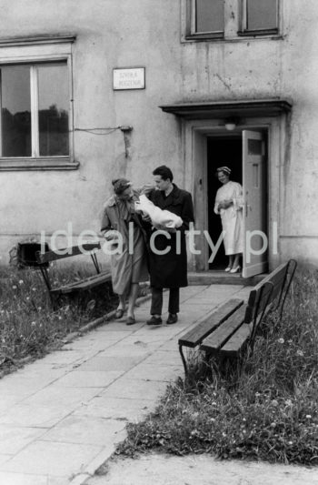 In front of the birth school, Wandy Estate. 1950s.