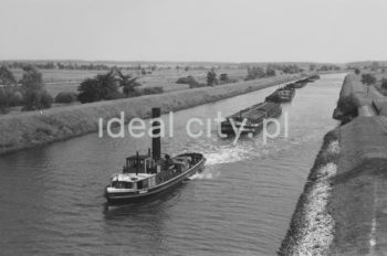 Coal transported by water. 1960s.