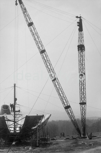 Budowa radioteleskopu.   fot. Henryk Makarewicz/idealcity.pl